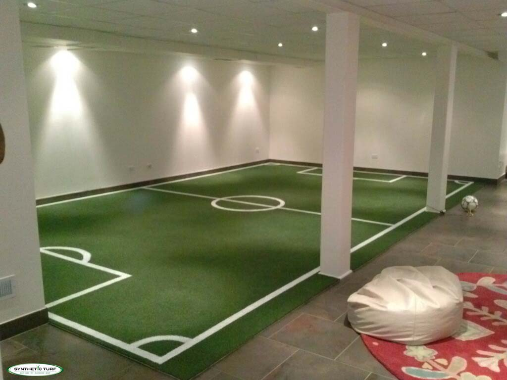 Synthetic Turf Illinois Indoor Basement Soccer 2 Chicago